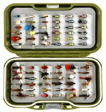 GS Fly Box Set mixed Trout Fly Fishing Flies Dry Wet Nymph Buzzers 10 25 50 100