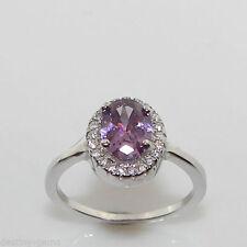 Unbranded Diamond Cluster Oval Fine Gemstone Rings