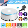 """US 4"""" Unique 360` Rotating 7 LED Colored Light Crystal Display Stand Base Holder"""