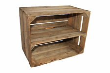 Apple Crate Large Vintage Wooden Used Old Shelf Long