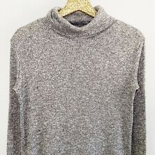 Mudpie Womens Sweater Gray Turtleneck Long Sleeve Waffle Knit Top Size Small