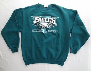 Philadelphia Eagles M NFL NFC East VTG Crew Neck Sweatshirt Green VF Imagewear