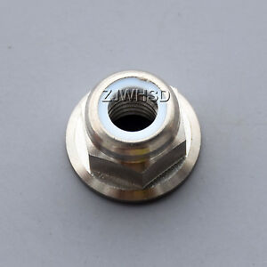 M6 Titanium Ti Hex Flange Nut Nylon Lock / Aerospace Grade for Bicycle Car Boat