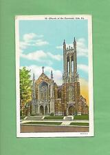 CHURCH OF THE COVENANT In ERIE, PA On Vintage Unused Postcard