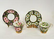 2 SETS OF ROYAL ALBERT PROVINCIAL FLOWERS CUP & SAUCERS - DOGWOOD/ALBERTA ROSE