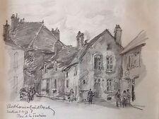 Paul-Louis GUILBERT 1886-1964.Saulieu.1953.Crayon.SBG,Situé.22x27.Cadre.