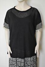 MARINA RINALDI by MAX MARA, 100% Linen Sweater, Plus Size L