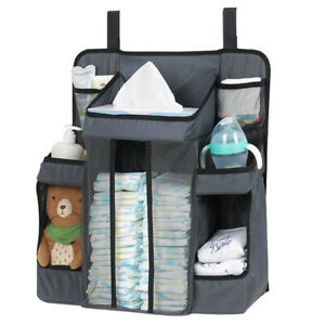 NEW BABY NURSERY ORGANISER TIDY STORAGE NAPPIES CHANGING HOLDER GIFT SET COT BED