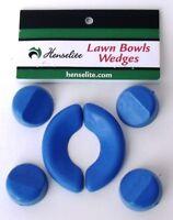 Lawn Bowls Wedges Set of 6 Henselite chocks umpires equipment Free Post
