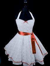 50er Petticoat  Rockabilly Braut Hochzeits Abiball Standesamt Kleid Dress