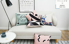 Cotton Blend Art Deco Abstract Decorative Cushions & Pillows