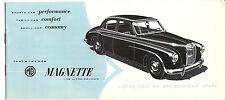 MG Magnette 1956 1 1/2 Litre Saloon Catalog