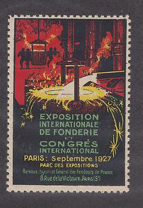 France MNH. 1927 International Foundry Expo, Paris