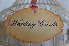 WEDDING CARDS-Sign-Tag-Label-Vintage Style-Birdcage-Beautiful Design-Unique