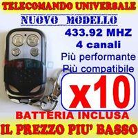 TELECOMANDO UNIVERSALE MHZ 433 10 CANCELLO GARAGE PER FAAC CAME FADINI fb