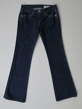 Womens BCBGirls Mick Low-Rise Boot Cut Blue Stretch Denim Jeans 26 X 32
