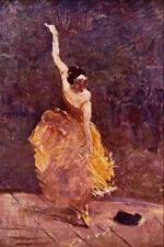 523025 il DANCING GIRL HENRI DE Tolosa LAUTREC A4 FOTO STAMPA