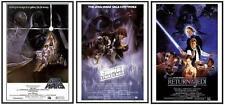 Star Wars Episode IV V VI Movie Poster Set Dry Mounted in Black Frames 24x36