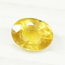 3.45 Cts Natural Yellow Sapphire Oval Cut Excellent Fecets 10x8 MM