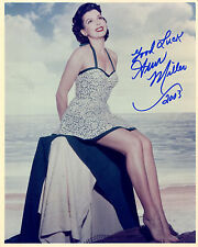ANN MILLER - Beautiful Swimsuit Photo - SIGNED