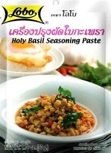 50g Thai Holy Basil Seasoning Spicy Stir Fry Cooking Sauce 12 packs DHLxp