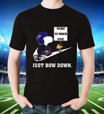 Nfl Team Football Peanuts Snoopy Joe Cool Shirt Baltimore Ravens T shirt Unisex