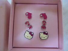 Chicas Hello Kitty En Caja Conjunto de pendientes-nuevo sin usar