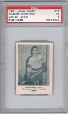 1951 Laval Dairy Lac St. Jean Hockey Card #19 Claude Chretien Graded PSA 5