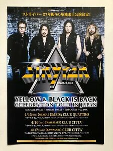 Stryper 2016 Japanese Tour Flyer Rare