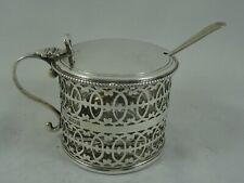 More details for superb, sterling silver mustard pot, 1911