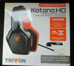 Mad Catz Tritton Katana HD 7.1 Wireless Schwarz Kopfbügel Headset PC B-Ware TOP