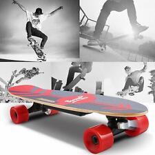 Elektro Skateboard E-Skateboard Elektrisches Longboard Funkfernbedienung Rot Neu