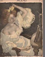 1902 Jugend December 5 German Art Nouveau Cover - Girl at her Vanity-Putz; Nisle