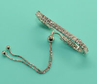 14K white gold finish elegant 4.24CT diamond tennis bracelet