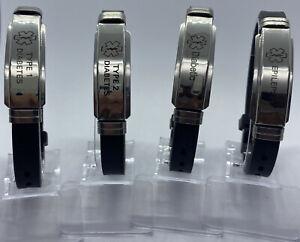 Diabetiker Armband Typ 1, 2 und Epilepsy Notfallarmband