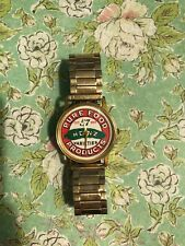 H. J. Heinz Co. Commemorative Logo Men's watch Gold Tone.  As Is/w pickle pic