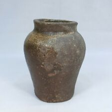 B252: Japanese OLD TOKONAME pottery vase with good taste and atmosphere.