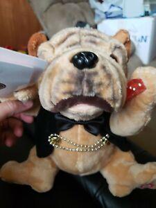 "Mr. Lucky Vegas Dog Dealer Plush Sinatra ""Luck be a Lady"" Singing Dancing Lights"