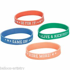 12 Football Sports Soccer Children's Party Favours Gifts Loot Rubber Bracelets