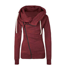 Womens Zipper Slim Fit Casual Jacket Coat Hoodies Hoody Sweatshirts Pullover Top