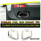 O Style Stainless Steel Chrome Exhaust Tip Muffler Ends Fit For BMW X5 E70 07-09