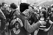 Hells Angels Motorcycle Gang Hat Park California 60's Amazing 8.5x11 Photo