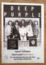 DEEP PURPLE Perfect Strangers 1985 magazine ADVERT / Poster 11x8 inches