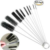 10x Tube Brushes Pipe Cleaning Brush for Drinking Straw Glasses Coffee Machine