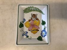 "Lynn Chase ""Jungle Flowers"" Fine China Porcelain Square Tray"