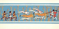 BULL RING Fresco from Knossos 1450 BC Vintage 1950s Large Greece Art Postcard