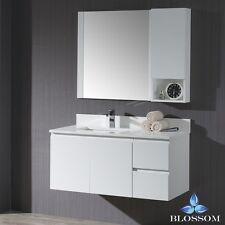 "Blossom 42"" Monaco Wall-Mount Single Sink Bathroom Vanity In Matte White"