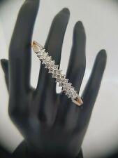 18Carat Rose and White Gold Diamond Hinged Bangle 2.16 carats