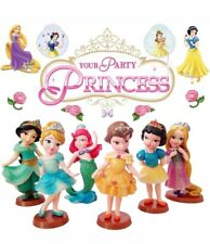 6 DISNEY PRINCESS SNOW WHITE ACTION FIGURES KIDS FIGURINES TOY CAKE TOPPER DECOR