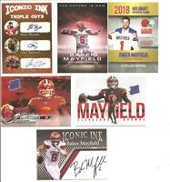 Baker Mayfield Cleveland Browns RC (6 Card Lot) w/ Iconic Ink Odell Beckham Jr.